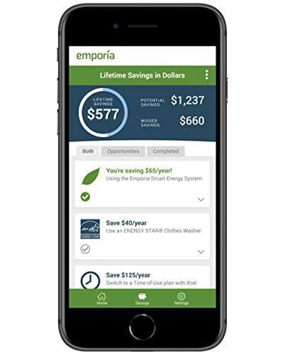 Emporia Vue Smart Home Energy Monitor | Real Time 24/7 Electricity Monitor / Meter | Solar / Net...