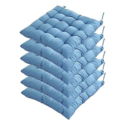 LCYZ Square Soft Cotton Seat Cushions - 40 cm/15,7 Zoll,waschbarer und atmungsaktiver Komfortsitz,getuftete Kissenkissen Weiches Stuhlkissen Tatami-Kissen