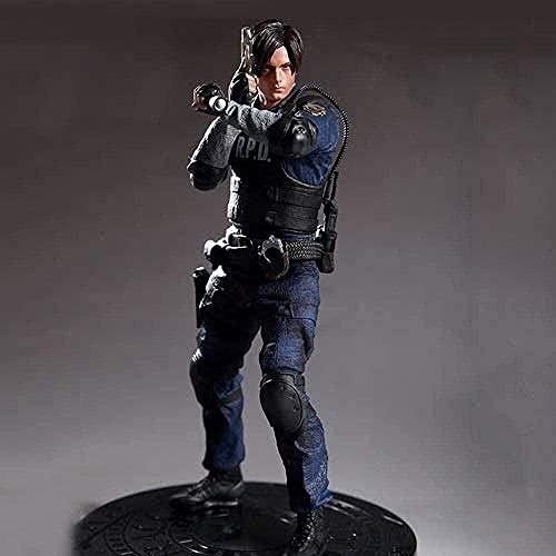 YLLAND Resident Evil 2 Leon Scott Police Kennedy Figure Animée 32cm PVC Jeu Figurines Collectible Modèle de caractère Statue de caractère Toys LNNDE