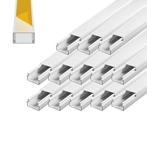 Kabelkanal selbstklebend 30 x 20 mm Installationskanal 13 m PVC Wand Decken Montage allzweck aller Art Kabel innen aussen Büro TV Lautsprecher Telefon Sat Netzwerk Kabel ARLI