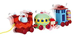 Based on the iconic Ninky Nonk Train from the popular children's TV Show In the Night Garden. The carriages wobble from side to side just like in the show! Made to be tough and durable. The carriages can be separated The train comes with a string to ...