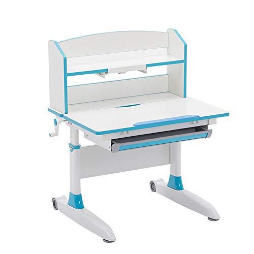 Preisvergleich Produktbild Huangwanru Kinderschreibtisch Stuhl Set Kids School Workstation Höhenverstellbarer Studie Schreibtisch Wipp-Desktop und Fach Für Schlafzimmer Hausaufgaben (Color : Blue,  Size : One Size)