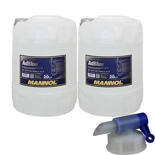 2x 20 Liter MANNOL SCR Harnstofflösung ready-to-ude AdBlue® inkl. Auslaufhahn