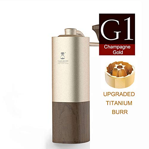 Amazing Deal Chestnut G1 manual coffee grinder upgrade titanium coating burr minimalism best coffee ...