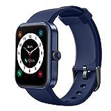 YONMIG Smartwatch, 1.69 Zoll Touch-Farbdisplay Uhr Fitness Armband Tracker Pulsmesser IP68 Wasserdicht Schrittzähler Stoppuhr Schlafmonitor Armbanduhr mit Pulsuhr (Blau)