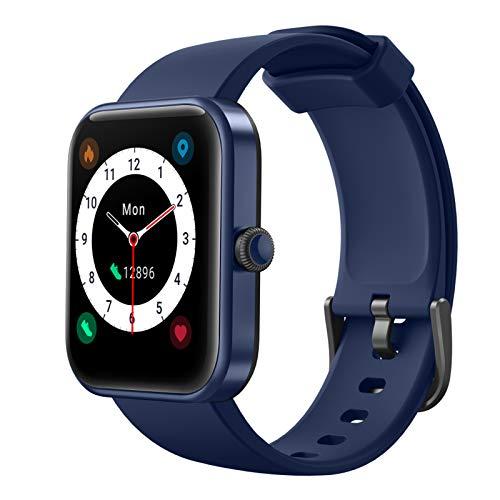 LIFEBEE Smartwatch Orologio Sportivo Fitness Tracker 1,69   Full Touch Uomo Donna con Alexa Integrata Saturimetro(SpO2) Cardiofrequenzimetro Sonno Salute Calorie Impermeabile IP68 per Android iOS