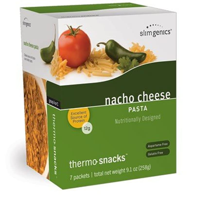 SlimGenics Thermo-Snacks ? |10g Protein - Alleviate Cravings, Increase Energy and Mental Focus, Enhance Weight Loss Results - Kosher Certified, 150 Calories - 7 Packets | Nacho Cheese