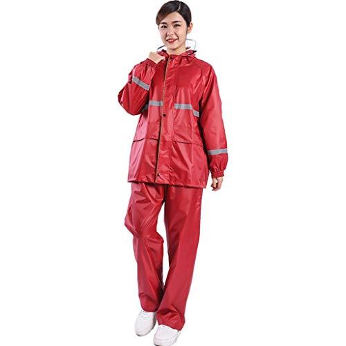 FAFZ Raincoat Pioggia Vestito di Pantaloni da Asporto Espresso Impermeabile Impermeabile Split Adulti Uomini E Donne del Motociclo Elettrico Equitazione Escursionismo Riflettente Impermeabile