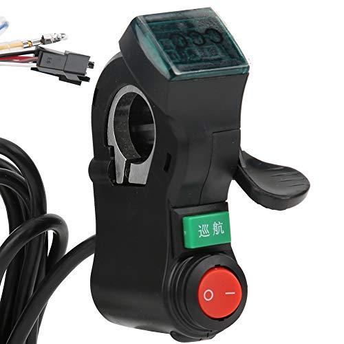 jadenzhou Acelerador de Bicicleta eléctrica, empuñadura de Acelerador de Bicicleta eléctrica Negra, para Ciclistas, Accesorio de Scooter eléctrico, Herramientas de reparación de Ciclismo