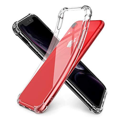 """UGREEN Funda para iPhone XR, Transparente Carcasa para iPhone XR Absorcion de Choque Cojín de Esquina Parachoques + Marco Reforzado de TPU Suave para iPhone XR 6.1"""" 2018, Transparente Blanco"""