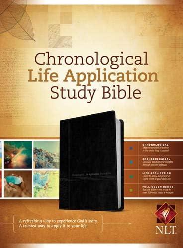 NLT Chronological Life Application Study Bible TuTone LeatherLike Black Onyx product image
