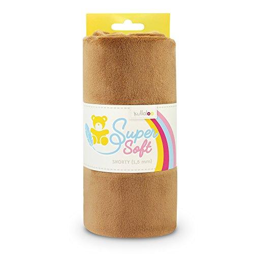 kullaloo Supersoft Plüsch Stoff Shorty in vielen Farben - 1,5mm Florlänge, EN 71-3 & EN 71-9 Zertifiziert (braun)