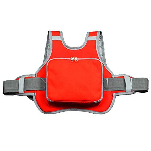 Mauel Faltbare Motorrad Sicherheitsgurt Kind Shatter - Beständig Harness Sitzgurt Elektrofahrzeuge, Fahrräder Sicherheitsgurt Kinder Adjustable Sicherheitsgurt,Rot