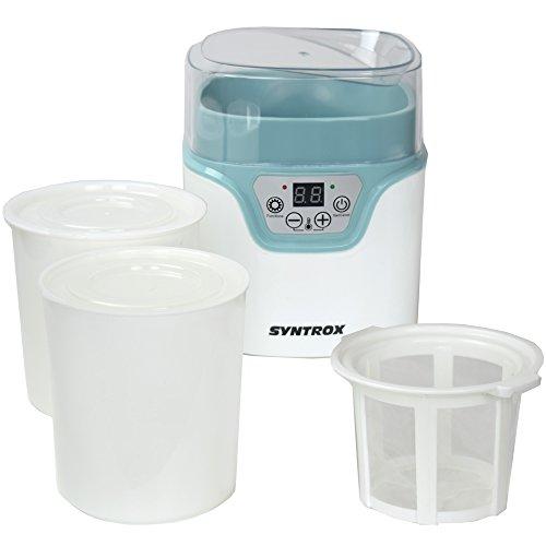 Syntrox Germany JMM-20W-1.2L Digitaler 1,2 Liter Käse,- Wein-, Quark- und Joghurtbereiter