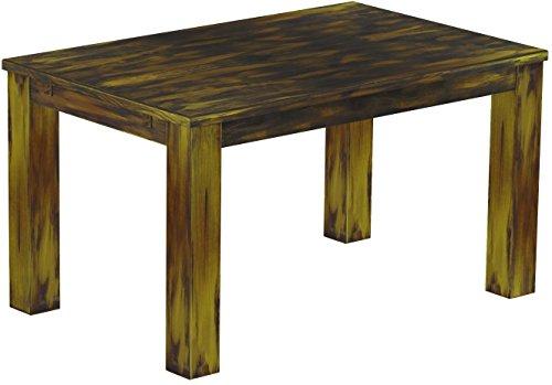 Brasilmöbel Esstisch Rio Classico 140x90 cm Goldmix Massivholz Pinie Holz Esszimmertisch Echtholz Größe und Farbe wählbar ausziehbar vorgerichtet...