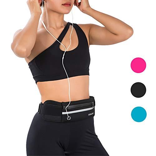 Jueachy - Hüfttaschen für Running in Schwarz, Größe Einheitsgröße