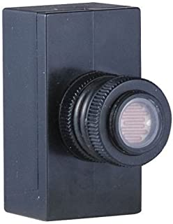 Hubbell-Bell PE100 - Interruptor fotoeléctrico para exteriores (1000 W, resistente a la intemperie), color negro