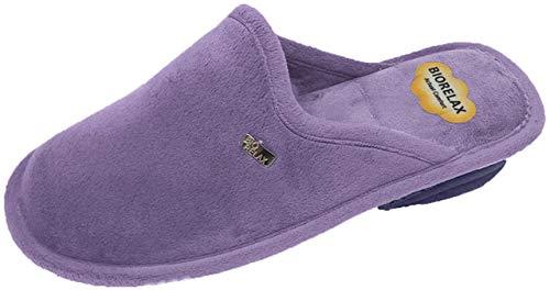 Zapatilla de Estar por casa/Biorelax/Mujer/4 Colores/Cuña 3cm