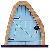 LULE Puerta enana de jardín de hadas – Puerta de elfin autoensamblable, puerta de madera de la casa de hadas para el árbol – decoración de jardín de hadas en miniatura (A3)