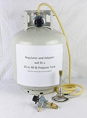 BUNSEN BURNER CONTROL VALVE REGULATOR for Propane Tank by Avogadro