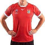 SDSER Maillot de rugby Tonga Coupe du monde de rugby 2019 - Pour homme - 100 % polyester - Absorbant la transpiration et respirant - Tailles S à 5XL (rouge, XL)