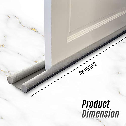 Draught-Excluder-Door-Draft-Excluder-Double-Sided-Under-Door-Seal-Insulation-Foam-for-Noise-Reduction-Stop-Hot-and-Cold-Air-Insects-Stopper-on-Bottom-Door-36-Inch-Long