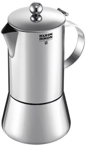 Kuhn Rikon 38093 Cafetera Italiana Espresso Juliette Acero Inoxidable 0,2L 4 Tazas inducción