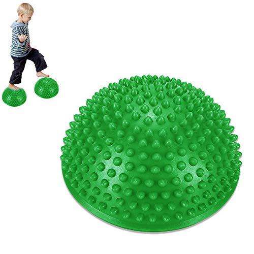 MT-Sport 半球 バランスボール 2個セット 大人から子供まで フット ヘルス ボール ミスター アルマジロ バランス トレーニング 【空気入れおまけ付】 (Green)