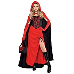 TRY OUT THIS SEXY SPIN ON A CLASSIC FAIRYTALE THIS HALLOWEEN WITH THIS LADIES RIDING HOOD ENCHANTRESS COSTUME LONG RED AND BLACK DRESS WITH AN ADJUSTABLE LENGTH SKIRT SLIT, BLACK ADJUSTABLE SHOULDER STRAPS AND A LACE UP GINGHAM CORSET WITH A FRILLED ...