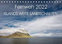 Fernweh 2022 - Islands weite Landschaften (Tischkalender 2022 DIN A5 quer): Faszinierende Landschaften Islands vereint in diesem Kalender (Monatskalender, 14 Seiten )