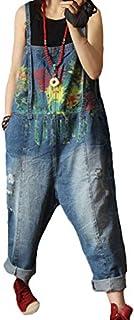 (イチイチ) itiiti デニム サロペット オーバーオール レディース ダメージ オールインワン ワイドパンツ ジーンズ 大きいサイズ おしゃれ かわいい ゆったり YCL96
