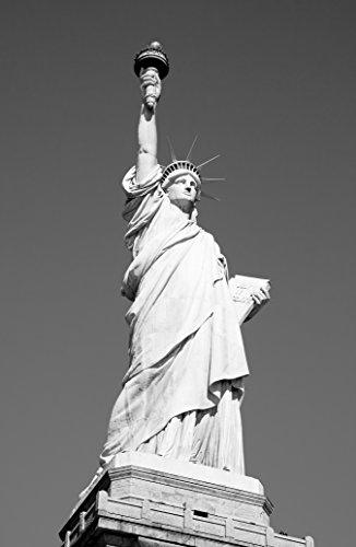 Bilderdepot24 Papier Peint intissé - Statue de la Liberté - New York USA - Noir et Blanc - 130x200 cm- Vente directe Fabricant!