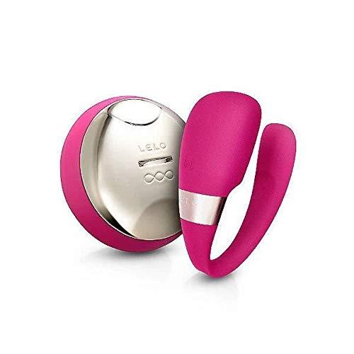 Lelo 9347 Tiani 3 Vibrador para Parejas Cerise: Consolador Clitoriano Recargable con Control Remoto para Usar Durante el Coito, Rosa