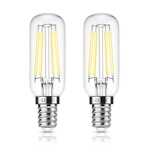 DORESshop E14 T25 LED 4W Leuchtmitte für Dunstabzugshaube, 400LM, 40W Ersatzglühlampe, Edison Glühlampe, Day White 6000K, nicht dimmbar, Gerätelampe für Dunstabzugshaube, 2er Pack Dunstabzugshaube