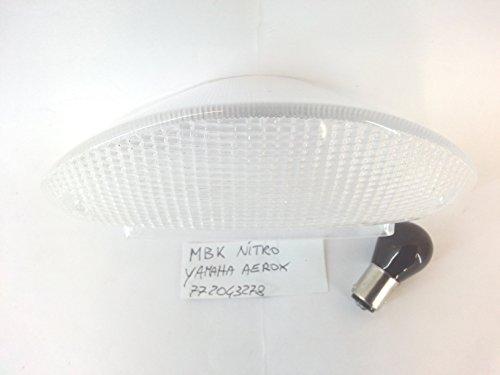 VETRO STOP FANALE POSTERIORE TRASPARENTE MBK NITRO YAMAHA AEROX 97-99 - CON LAMPADINA