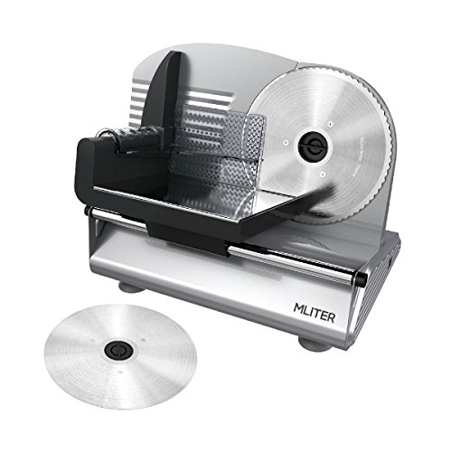5.MLITER 150W Electric Food & Meat Slicer Precision Machine
