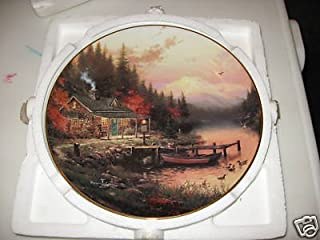 The Thomas Kinkade Collection, End of A Perfect Day Decorative Plate Limited Edition Fine Porcelain