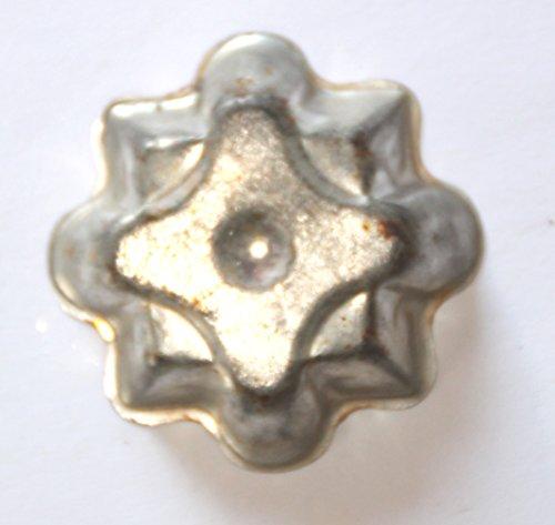 Antiquitäten - antike Miniatur Backform, Verzierung, Schokoladenform - Geo 4,5 x 4,5 cm (228)