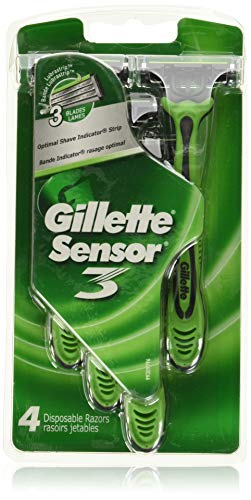 Gillette Sensor3 Conditioning Shave Disposable Razor 4 Count