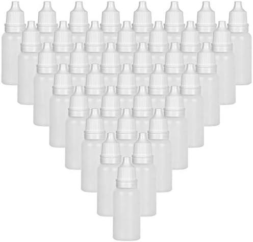 100Pcs 15ML Plastic Dropper Bottles Eye Dropper Bottle with Screw Cap Empty Squeezable Liquid product image