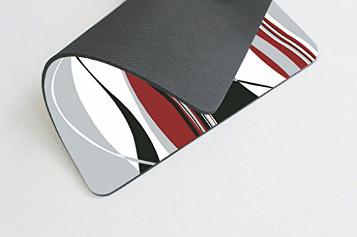 Smooffly Mouse pad Wavy Vertical Stripes Red Black White and Grey Personality Desings Gaming Mouse Pad Photo #4