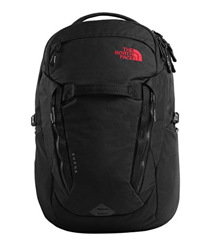 The North Face Surge Backpack, TNF Black Heather/TNF Red, One Size