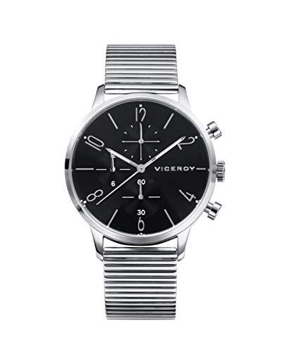 Viceroy - Reloj Magnum Multifunción Acero Hombre Esfera Negra 42413-55
