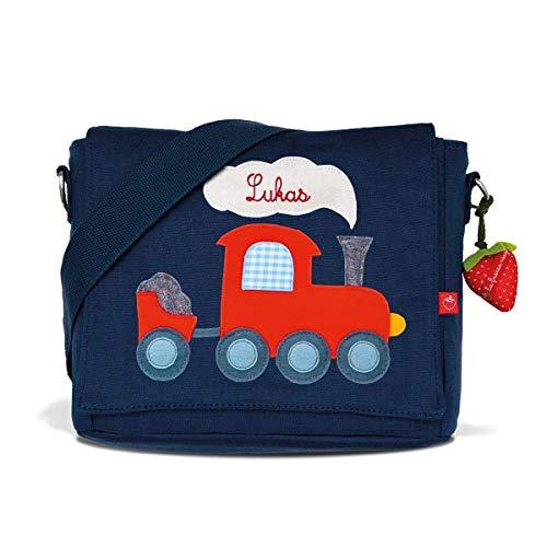 Kindergartentasche & Kindergartenrucksack in einem: Eisenbahn/Zug für Jungen (mit Namen)