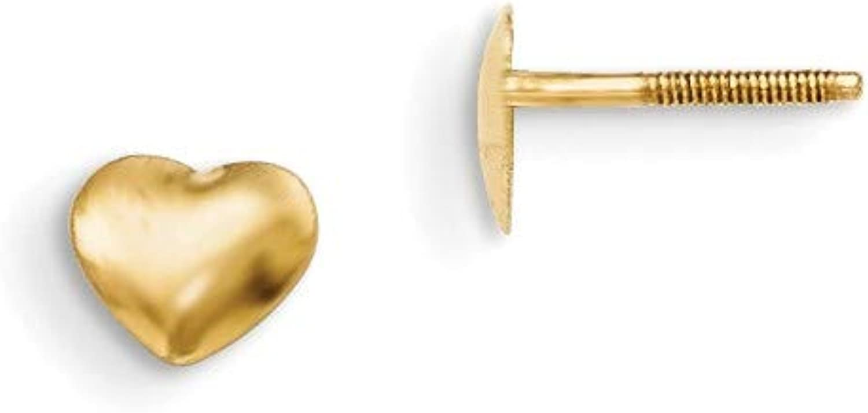 Yellowgold 14k Madi K Heart Screwback Earrings