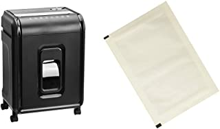 Amazon Basics 12-Sheet High-Security Micro-Cut Paper, CD, and Credit Card Shredder with Pullout Basket & Paper Shredder Sh...