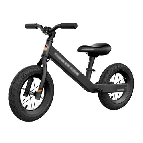 Stone Home Balance Fahrrad Baby-Balancen-Fahrrad Kinder Walker Fahrrad-Fahrt auf Spielzeug Zwei Räder Geschenk for 1-5years alte Kinder der Weg-Racing Sliding Bike (Color : Black)