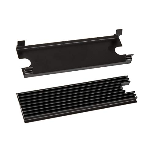 Thermal Grizzly M.2 Ssd-Thermal-Passivkühler - 2x Thermal Pad, ästhetische schwarze Farbe, Ssd-Kühlkörper