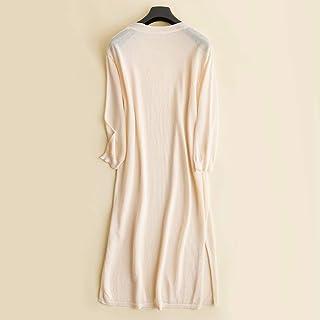 夏季新款亚麻开衫女中长款薄宽松防晒空调衫棉麻针织外套冰丝披肩白色 S