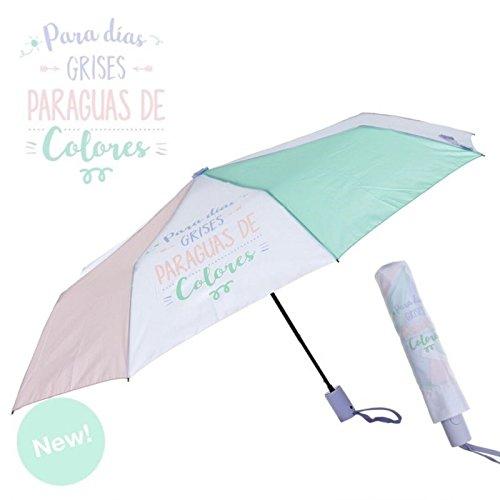 Dcasa - Paraguas plegable original colores pastel